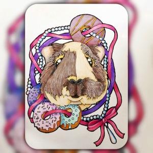 Squidgypigs - Guinea Pig Art - Doughnut