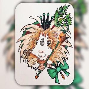Squidgypigs - Guinea Pig Art - Blondie