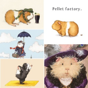 When Guinea Pigs Fly - Guinea Pig Art