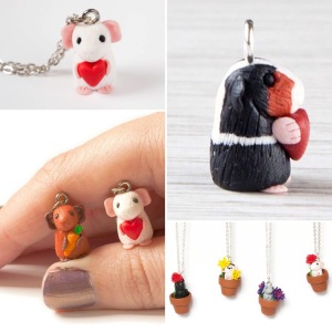 Handcrafted piggy charms.