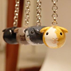 Handmade Guinea Pig Keychain