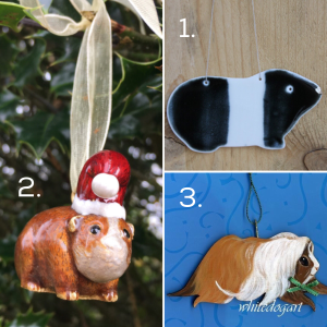 Guinea Pig Christmas Decorations