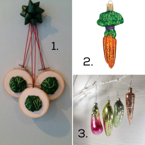 Vegetable Christmas Decorations