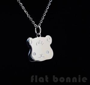 Flat Bonnie Guinea Pig Necklace