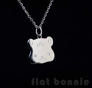 Flat Bonnie Guinea Pig Necklace