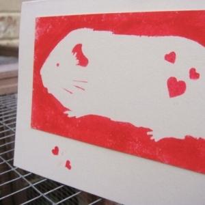 Guinea Pig Valentines Card