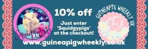 10% off at www.GuineaPigWheekly.co.uk