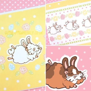 Guinea Pig Wheekly Easter Cards
