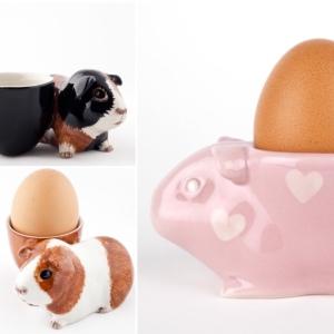 Quail Ceramic Guinea Pig Egg Cups