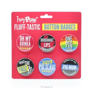 Haypigs Fluff-Tastic Button Badges Review